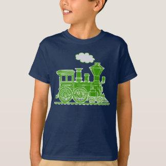 Camiseta O nome feito sob encomenda do trem verde do louco