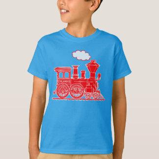 Camiseta O nome feito sob encomenda do trem vermelho do