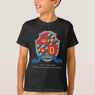 Camiseta O nome & o significado dos meninos D de Daniel