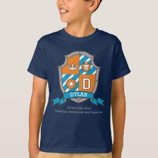 Camiseta O nome & o significado dos meninos D de Dylan