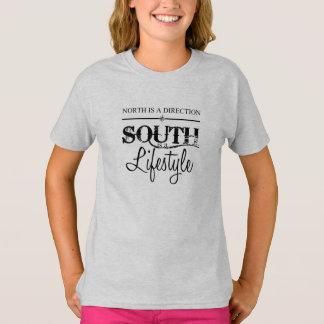 Camiseta O norte é um sentido, sul é um estilo de vida