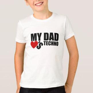 """Camiseta O oficial """"meu pai ama t-shirt dos miúdos de"""