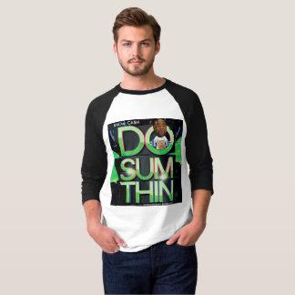 Camiseta O oficial sabe o t-shirt do Raglan da luva de CA$H