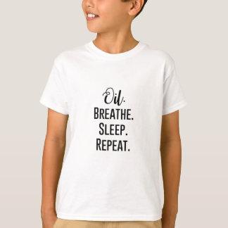 Camiseta o óleo respira a repetição do sono - produtos