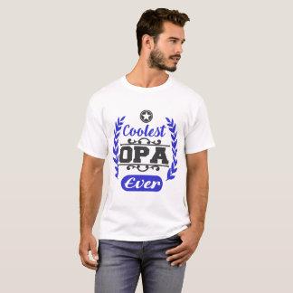 Camiseta o opa o mais fresco nunca, opa, o mais fresco, dia