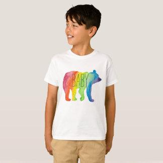 Camiseta O orgulho da família da aguarela do urso do bebê