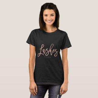 Camiseta O ouro cor-de-rosa moderno chicoteia a tipografia