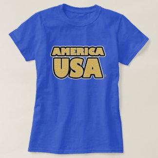 Camiseta O ouro de América EUA rotula t-shirt