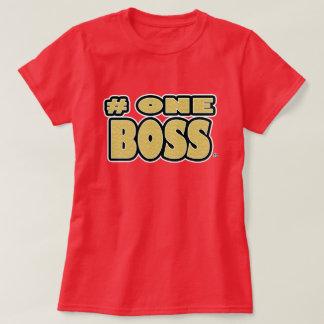 Camiseta O ouro do chefe do número um exprimiu t-shirt