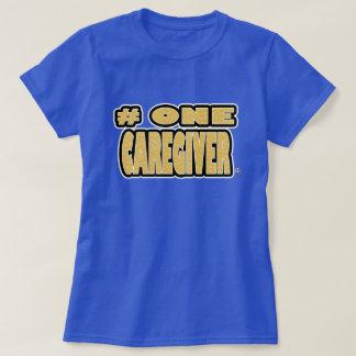 Camiseta O ouro do cuidador do número um exprimiu t-shirt