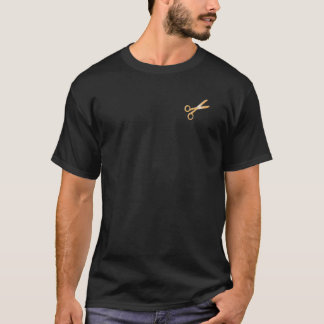 """Camiseta O """"ouro Scissors"""" o t-shirt do cabeleireiro do"""