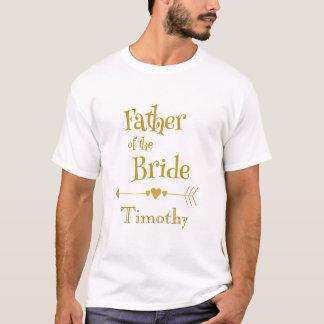 Camiseta O pai da noiva personaliza