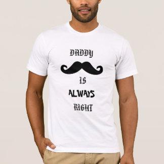 Camiseta O pai é sempre tshirt direito do dia dos pais