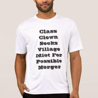 Camiseta O palhaço de classe procura o idiota da vila para