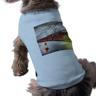 Camiseta O papai noel expresso do Pólo Norte - trem do