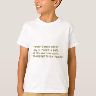 Camiseta O papel bate a rocha?