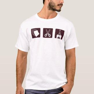 Camiseta O papel Scissors a colagem