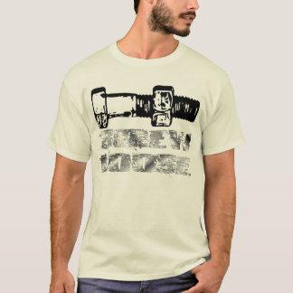 Camiseta O parafuso afrouxa o t-shirt