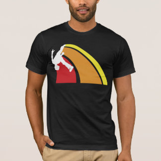 Camiseta o parkour alinha cores mornas