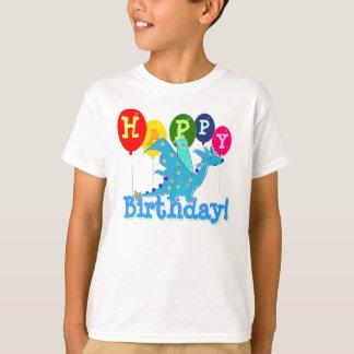 Camiseta O partido bonito do dragão do feliz aniversario