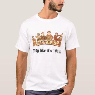 Camiseta O partido como ele é t-shirt de 1066 homens