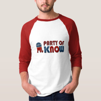 Camiseta O partido de sabe o GOP engraçado