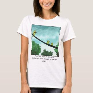 Camiseta O pássaro cortou o cabo