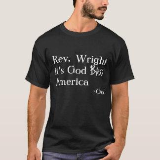 Camiseta O pastor Wright de Barack