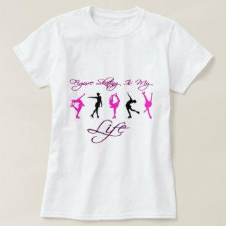 Camiseta O patinagem artística é minha vida - ROSA & PRETO