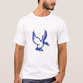Camiseta O pato do pato selvagem voa o lado da aterragem