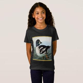 Camiseta O pato selvagem branco e preto ducks a natação na