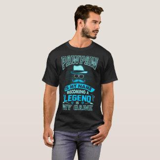 Camiseta O Pawpaw é minha legenda tornando-se conhecida é