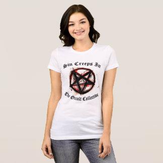 Camiseta O pecado entra silenciosamente t-shirt do