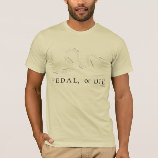 Camiseta O pedal ou morre (as vizinhanças do htx)