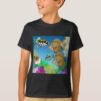Camiseta O peixe pacífico do recife de Indo caçoa o t-shirt