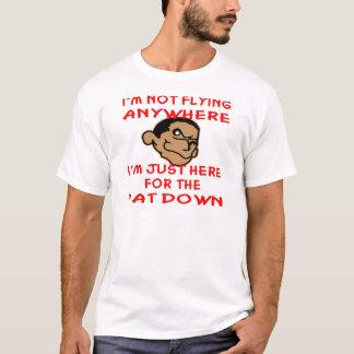 Camiseta O pervertido é apenas aqui para a pancadinha de