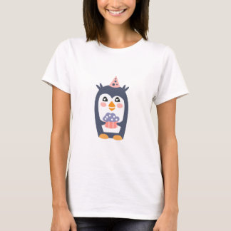 Camiseta O pinguim com partido atribui Funky estilizado