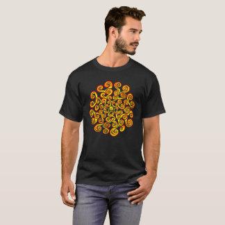 Camiseta O poder da mandala amarela vermelha de Sun