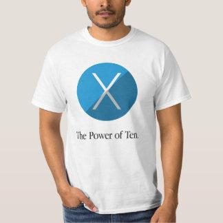 Camiseta O poder de dez