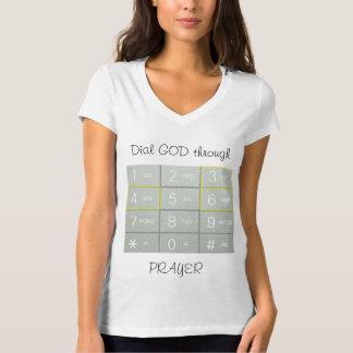 Camiseta O poder do t-shirt da oração