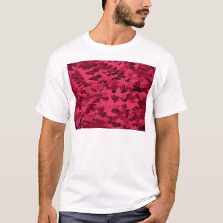 Camiseta O pop art abstrato da folha cora vermelho