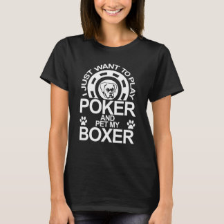 Camiseta O póquer do jogo e Pet meu cão do pugilista