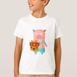 Camiseta O porco com partido atribui Funky estilizado