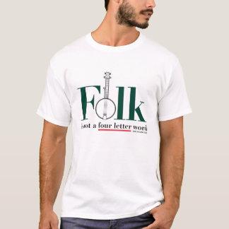 Camiseta O povo não é um t-shirt da palavra de quatro