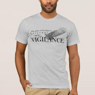 Camiseta O preço da liberdade é vigilância eterno