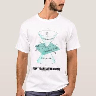 Camiseta O presente é um conceito relativo (o cone claro)