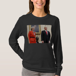 Camiseta O presidente Donald Trump & PM britânico Theresa