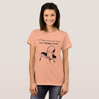 Camiseta O presidente é um t-shirt do troll do Twitter