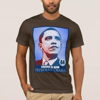 Camiseta O presidente Obama, mudança é agora t-shirt