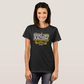Camiseta O preto/amarelo das mulheres do t-shirt do racismo
